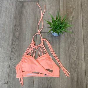 Victoria's Secret PINK Strappy Wrap Bikini Top S